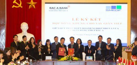 BAC A BANK ký hợp đồng khung cho vay gián tiếp với Quỹ Phát triển Doanh nghiệp nhỏ và vừa