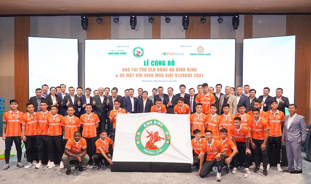 CLB bóng đá Bình Định công bố nhà tài trợ và ra mắt đội hình mới