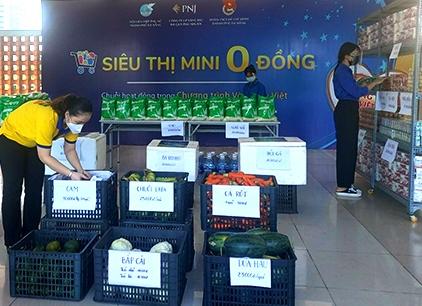 Hà Nội: Thí điểm 'Xe buýt siêu thị 0 đồng' hỗ trợ người lao động